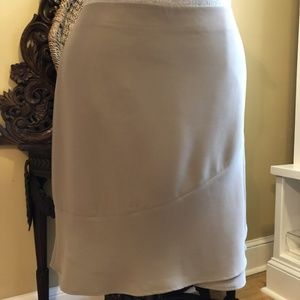 Talbots - NWOT -Size 20 Taupe crepe skirt